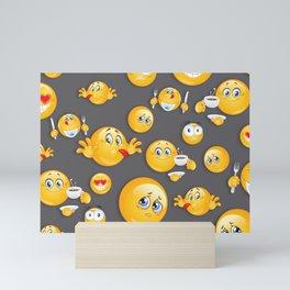 Emoji Pattern 5 Mini Art Print
