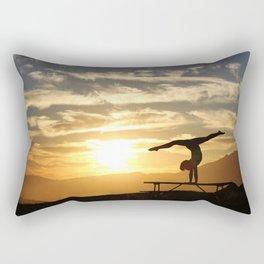Gymnastics Silhoete Rectangular Pillow