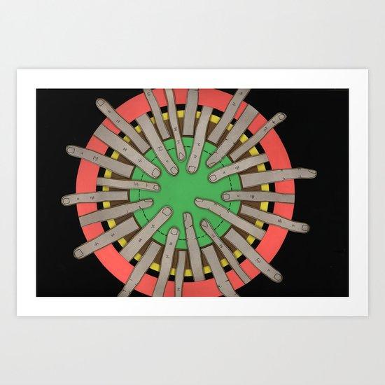 radial blame V Art Print