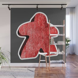 Giant Red Meeple Wall Mural