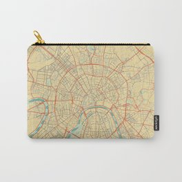 Moscow Map Retro Carry-All Pouch