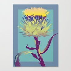 Blue Thistle Canvas Print