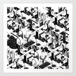 City Repeat Art Print