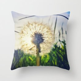 Dandelion Dreamin' Throw Pillow