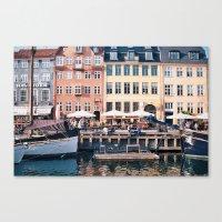 copenhagen Canvas Prints featuring Copenhagen by Katie Koop