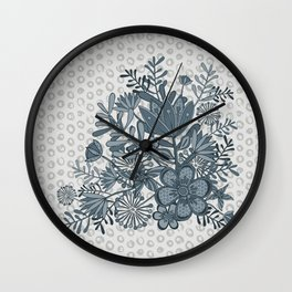 Blue Ballad Wall Clock