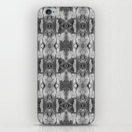 B&W Open Your Eyes Patterned Image iPhone Skin