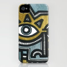 Blue and Gold Face Slim Case iPhone (4, 4s)