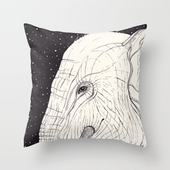 animal moments: elephant Throw Pillow