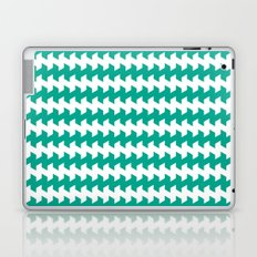 jaggered and staggered in emerald Laptop & iPad Skin