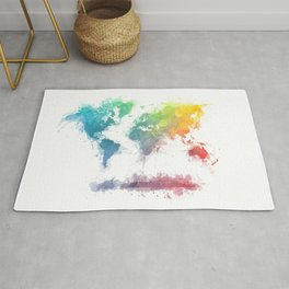 World Map splash 2 Rug