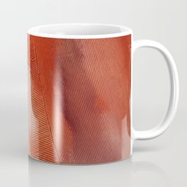 Desert Journey [1]: a textured, abstract piece in pinks, reds, and white by Alyssa Hamilton Art Coffee Mug