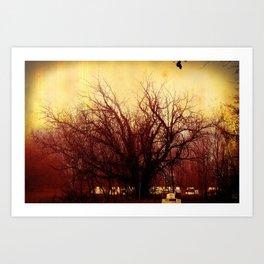 Bee Tree Art Print