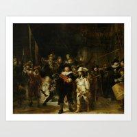 The Night Watch by Rembrandt van Rijn Art Print