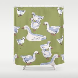 Geese are laying Shower Curtain