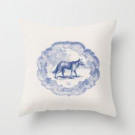 DelftWare Wolf Throw Pillow