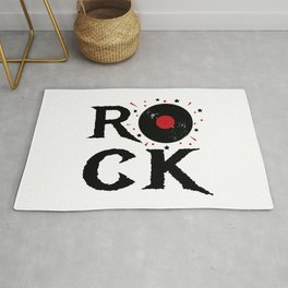 Rock illustration Rug