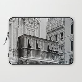 Roman city balcony Laptop Sleeve
