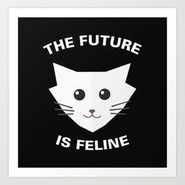 The Future is Feline Art Print