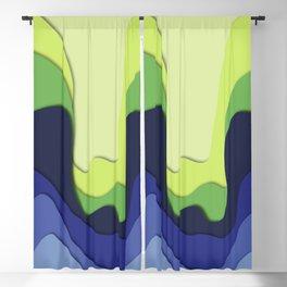 3d modern waves  Blackout Curtain