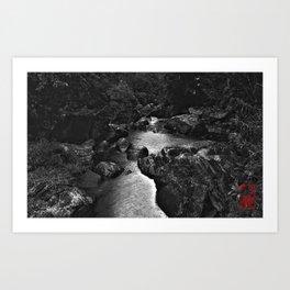 Monochrome River Art Print