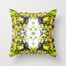 Leaves Blowing in the Wind Throw Pillow