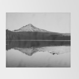 Wild Mountain Sunrise - Black and White Nature Photography Throw Blanket