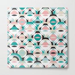 Pastel Geometry / Modern Shapes Metal Print
