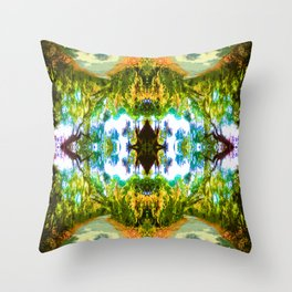 Psychedelic Trees Throw Pillow