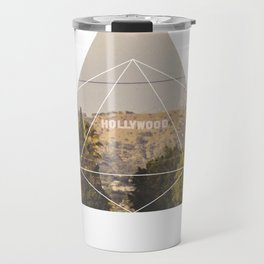 Hollywood Sign - Geometric Photography Travel Mug