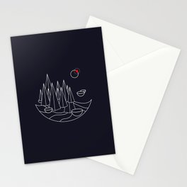 Visit Utopia - Science Fiction Poster Stationery Cards