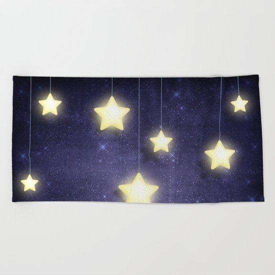 Moon & Stars 02 Beach Towel