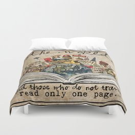 The World Is A Book Duvet Cover