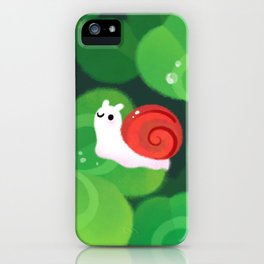 Happy lucky snail iPhone Case