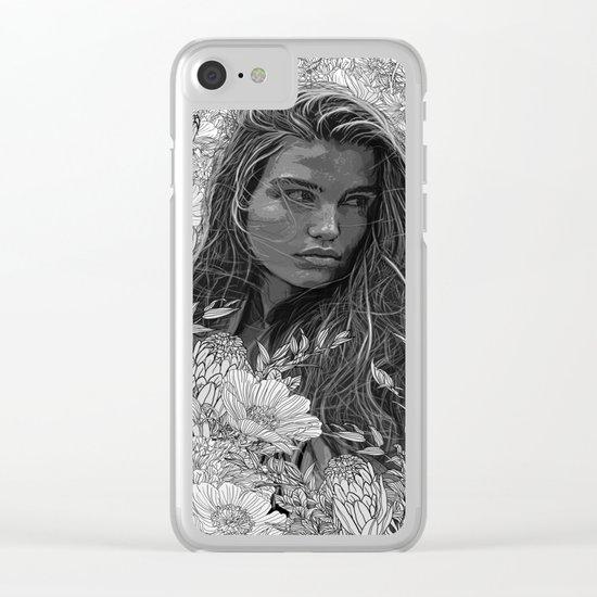 La fleur de la musique Clear iPhone Case