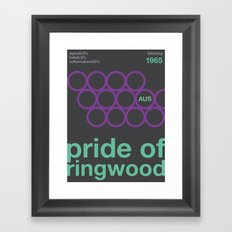 pride of ringwood//single hop Framed Art Print