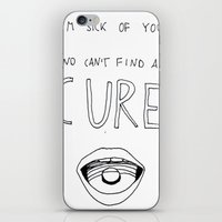the cure iPhone & iPod Skins featuring No Cure by insomniac_maniac