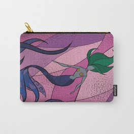 Mermaid Stained Glass (Royal) Carry-All Pouch