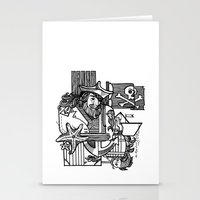 pirate Stationery Cards featuring Pirate by María Nikólskaya
