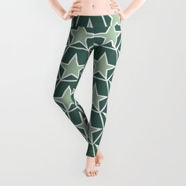 Green Pineappel Pattern Leggings