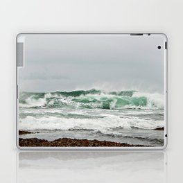 Explosive Green Surf of the St-Lawrence Laptop & iPad Skin