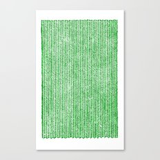 Stockinette Green Canvas Print