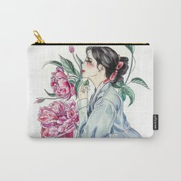 Peonies (Hanbok girls) Watercolor Carry-All Pouch