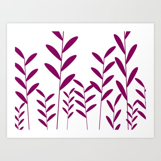 leafy silhouette 1 Art Print