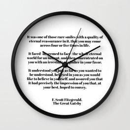 Fitzgerald quote Wall Clock