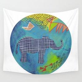 Happy Elephant Wall Tapestry