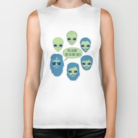 aliens Biker Tanks featuring aliens by gotoup