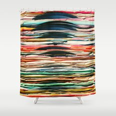 Vintage Vinyl  Shower Curtain