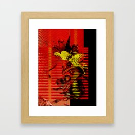 Flor kitsch I love Framed Art Print