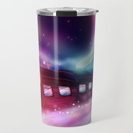 A Trip to the Moon by Locomotive Travel Mug